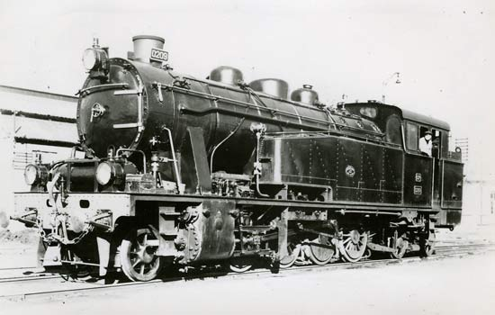 Steam engine 201 to 224 series