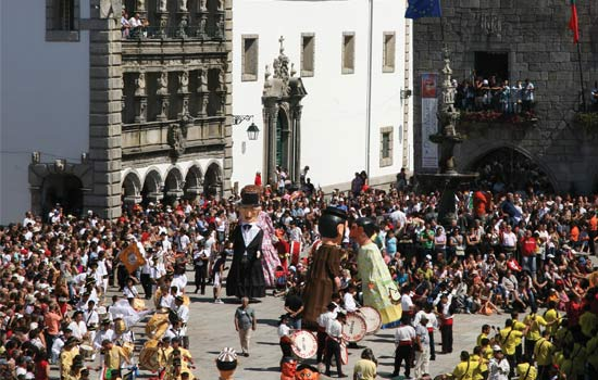 Thousands of people in a pilgrimage to Viana do Castelo in August.